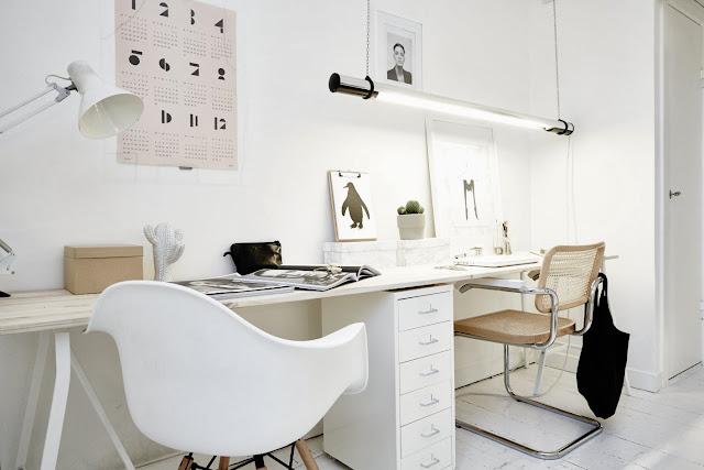 My scandinavian home the beautiful apartment of a swedish for Swedish design desk