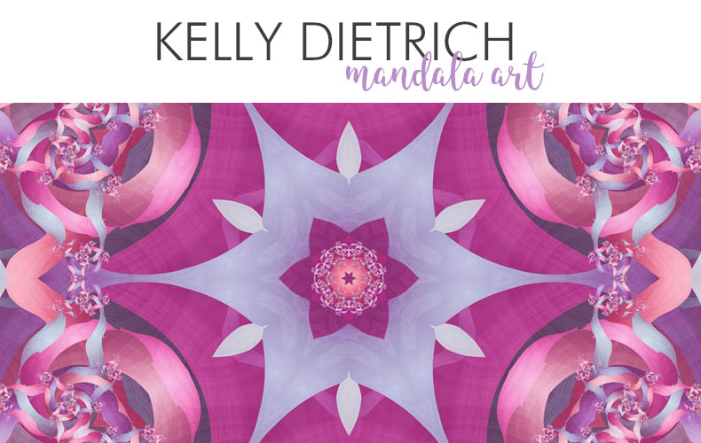 Mandala Art and Mandala Inspired Coloring Books, App, and Other Products by Kelly Dietrich