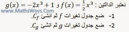 عموميات حول الدوال العددية جزء10 دراسة الدالة ax³ مع تمرين محلول