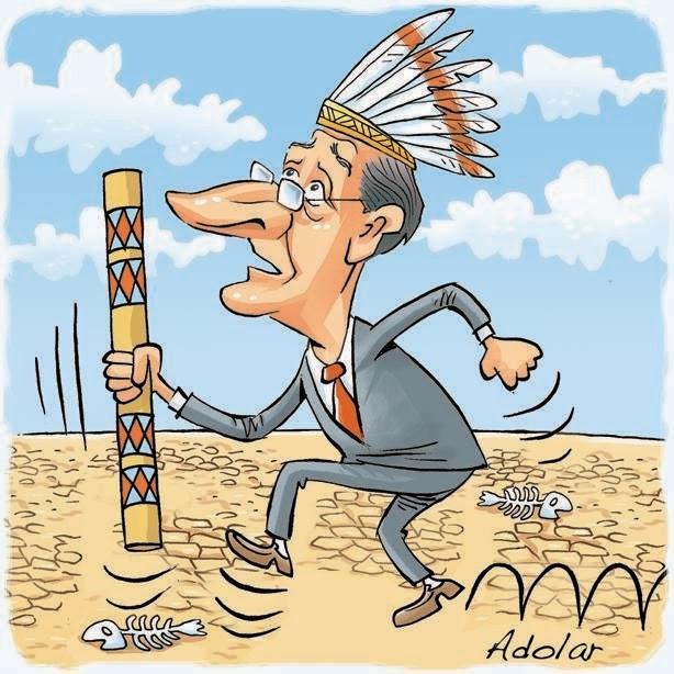 Por chuvas, Alckmin apela para o 'Cacique Cobra Coral'