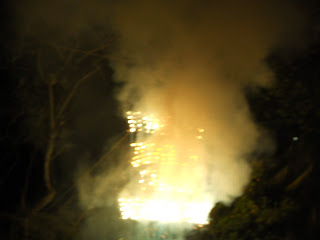 Picture of the castillo as the fireworks started