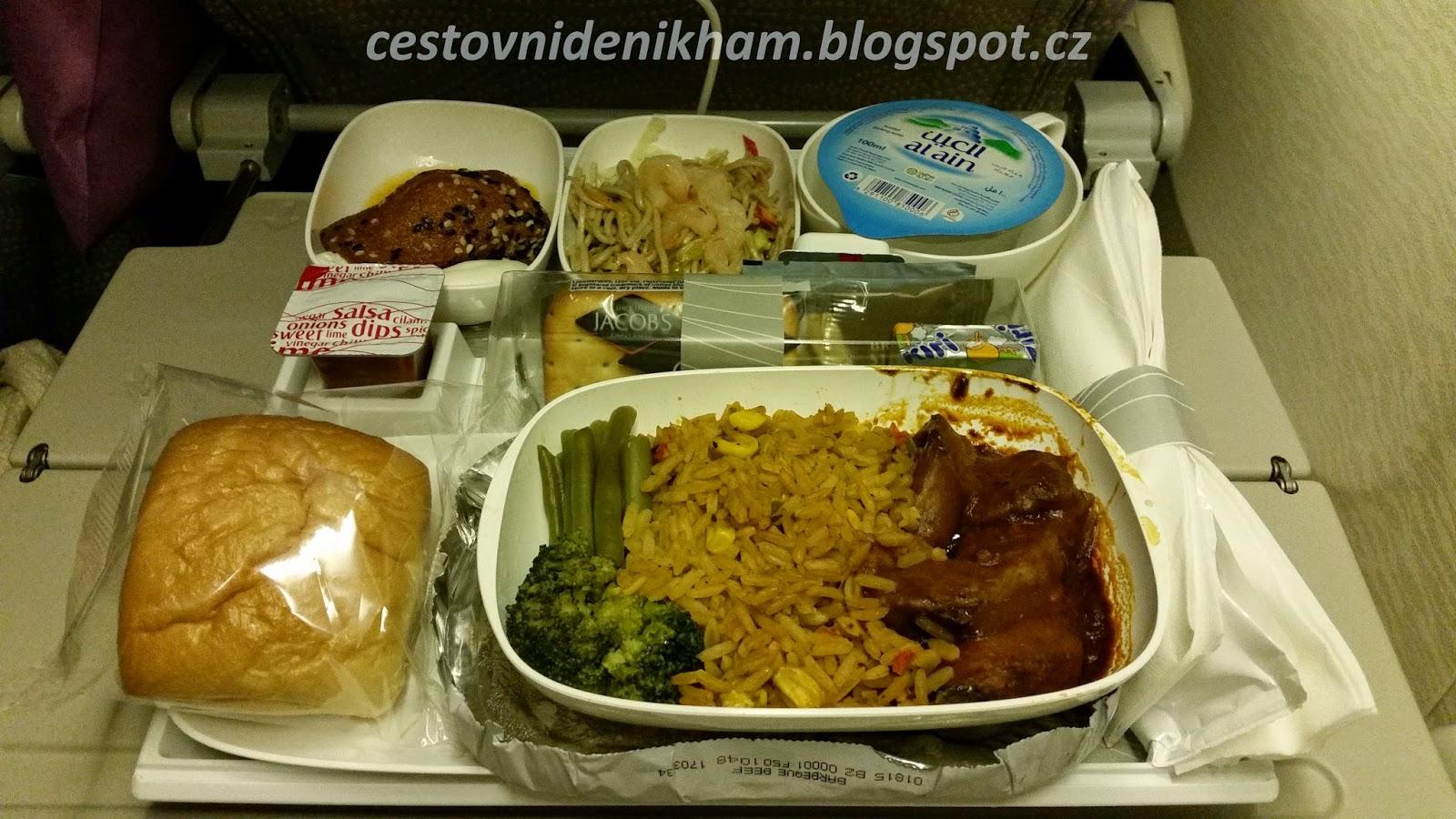 jídlo v letadle // food on board