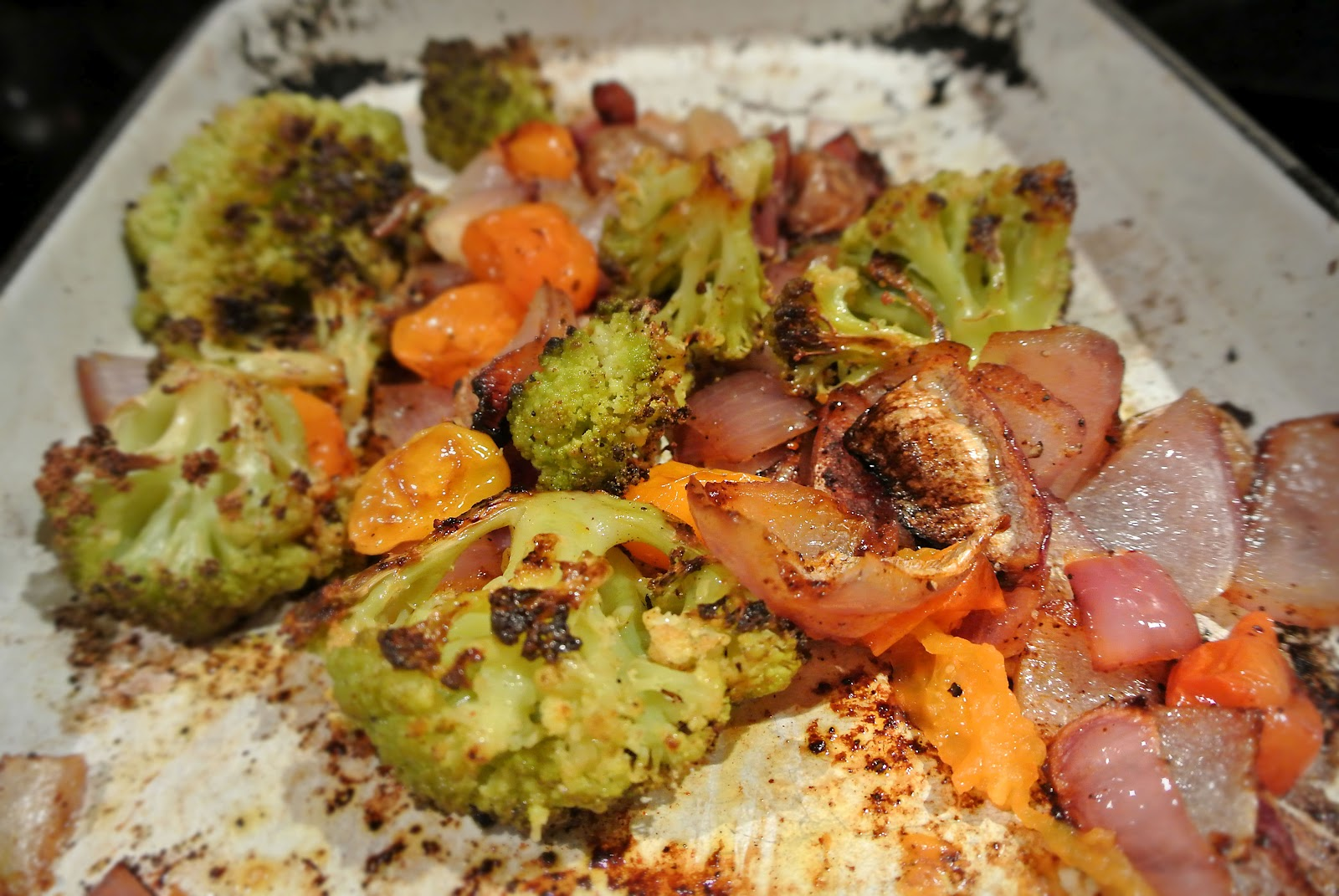 Roasted Veggies And Rice Noodles With Poached Egg Recipe ...