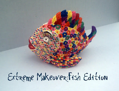 Elmer's, Walmart, Glue 'n Glitter, Painters, Makeover, Fish, Upcycle