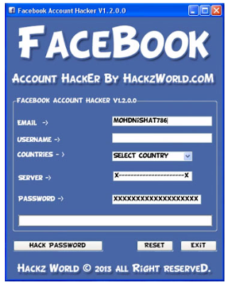 How To Hack Facebook Accounts Password 2013