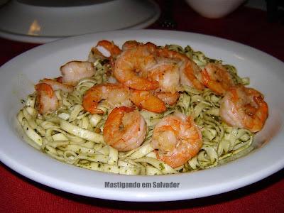 Di Lucca Ristorante Italiano: Meia porção do Pesto di Gamberi