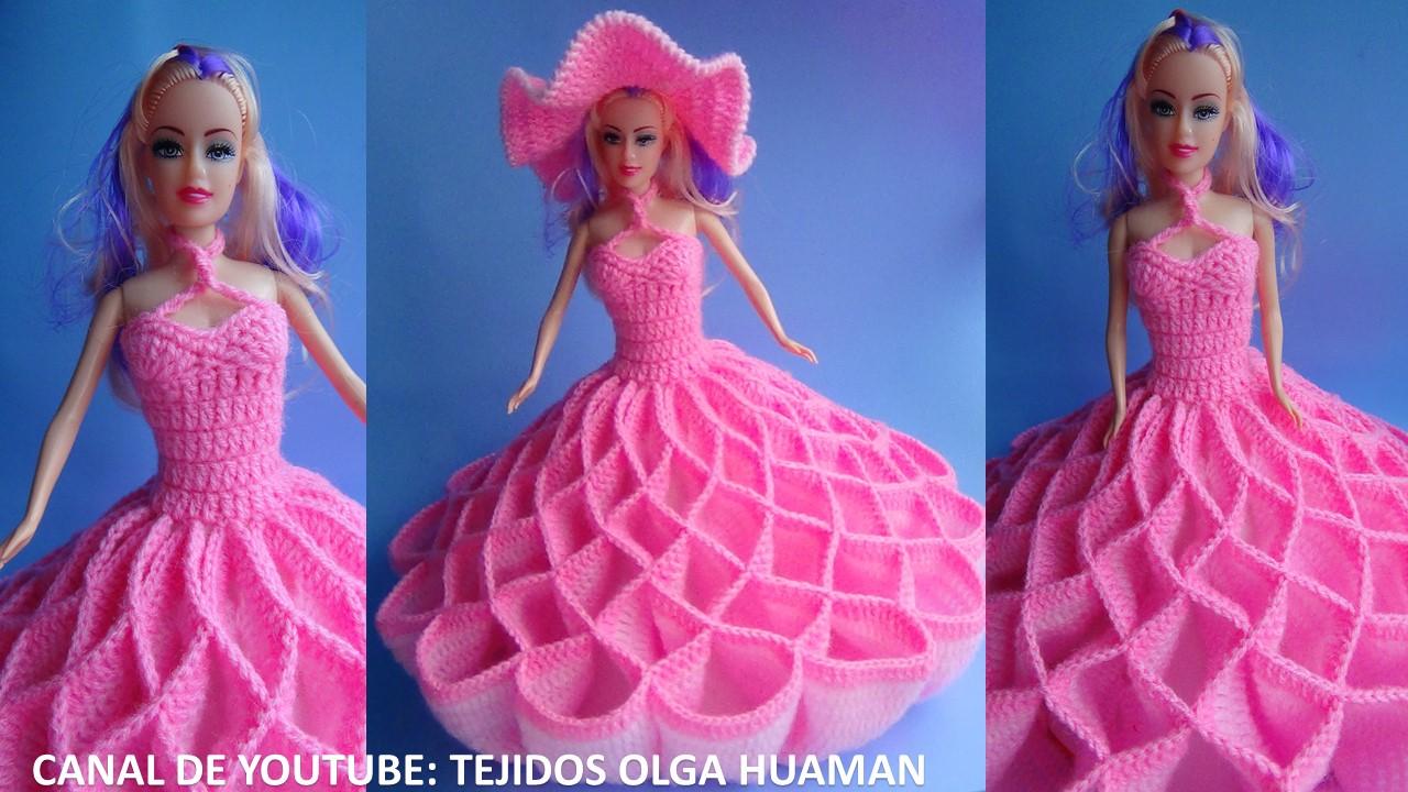 TEJIDOS OLGA HUAMAN: Vestidos de Muñecas Tejidos a Crochet o Ganchillo