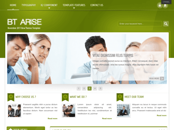 BT Arise Joomla Business Templates