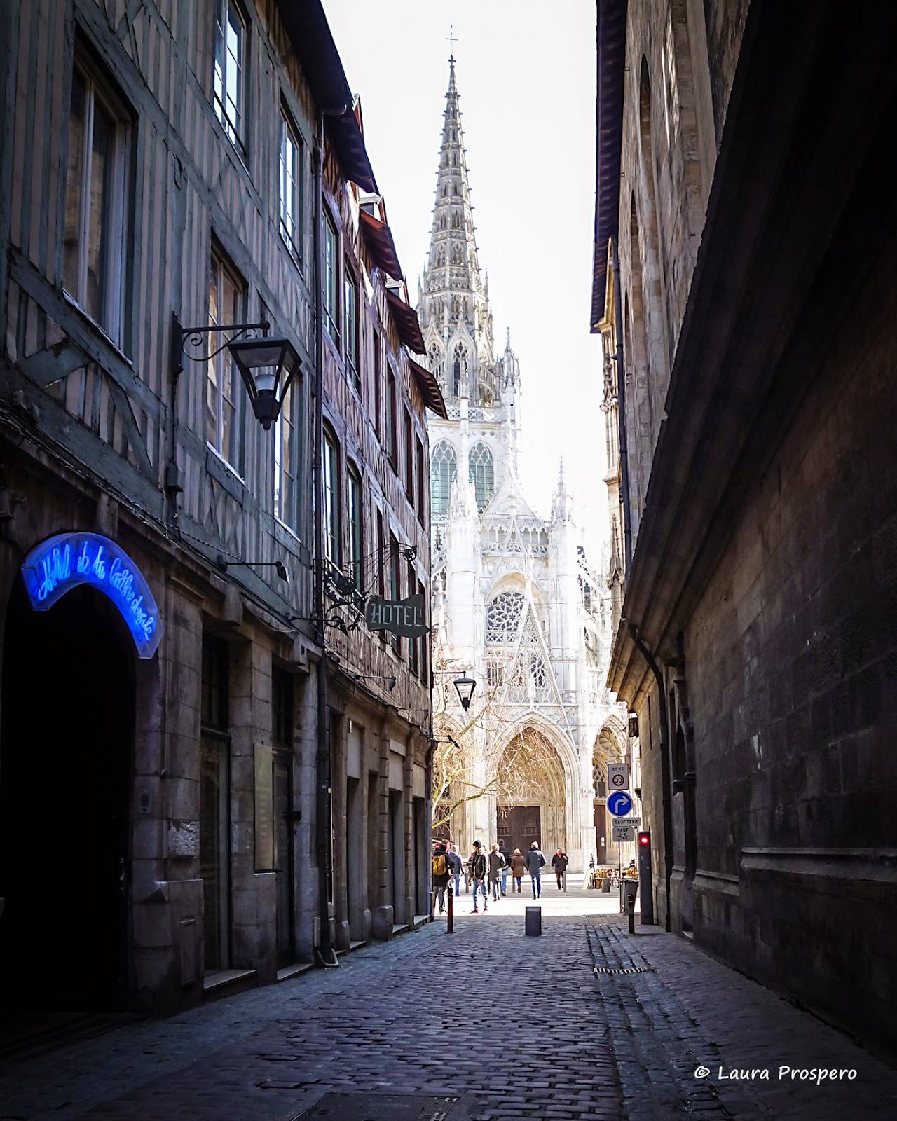 Eglise Saint-Maclou vue de la rue Saint-Romain, Rouen 2015 © Laura Prospero
