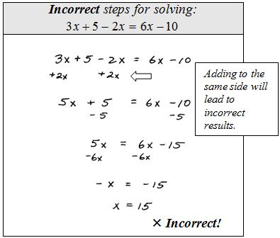 Linear equation problem solving