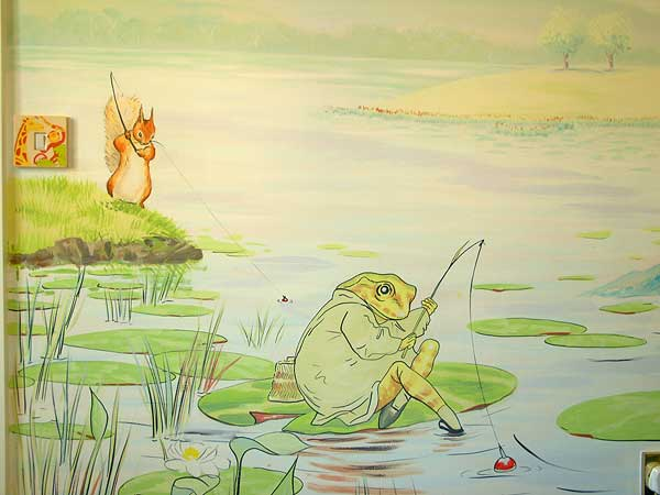 Surface pop for Beatrix potter wall mural