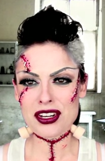 bride of frankenstein halloween makeup style for girls