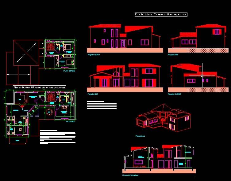 Engineering et Architecture plan de maison