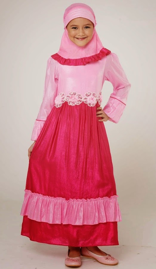 Contoh baju muslim anak terbaru 2015 Contoh baju gamis anak