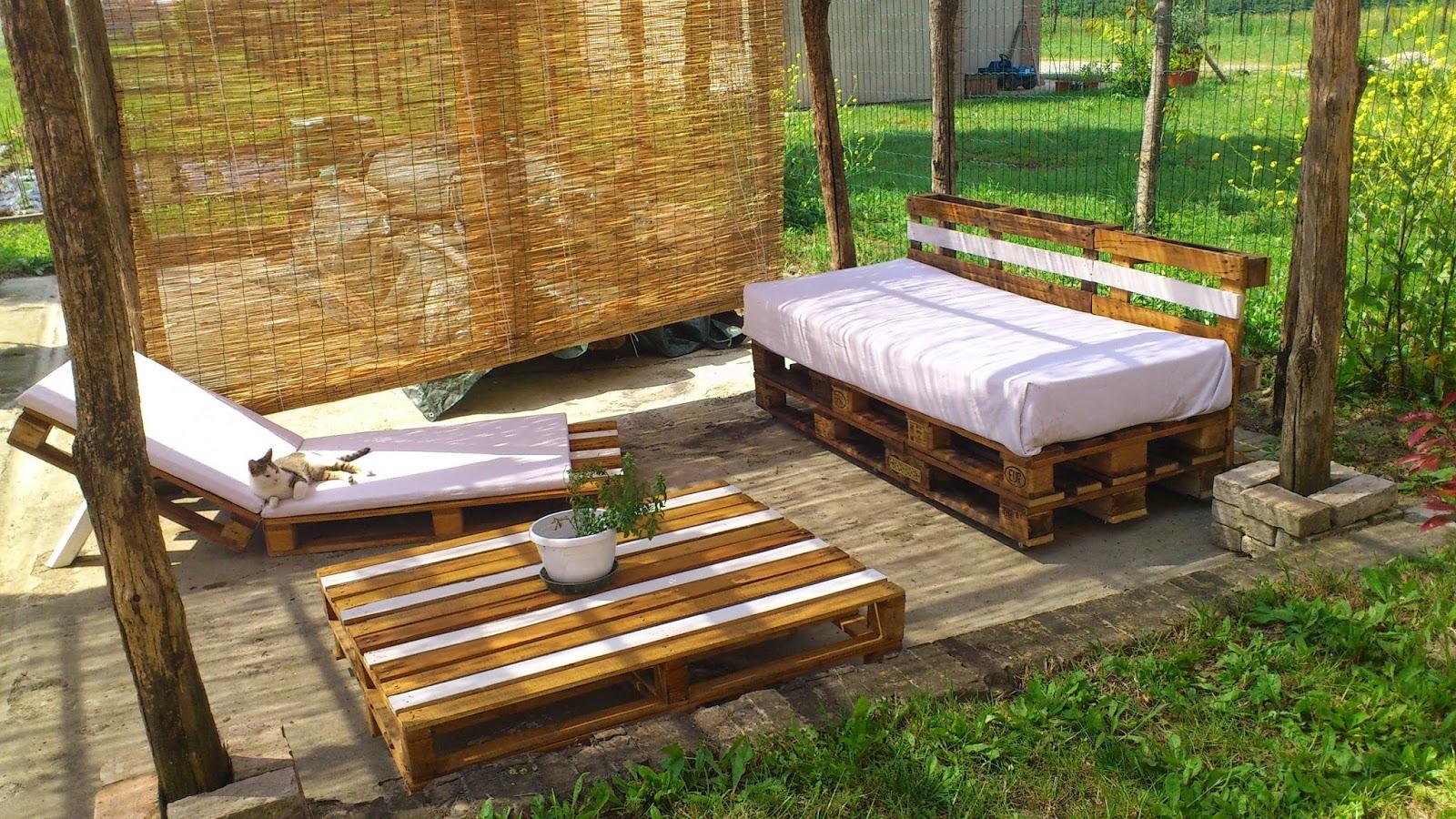 Le clementine arredamento giardino a costo zero - Mobili pallet prezzi ...