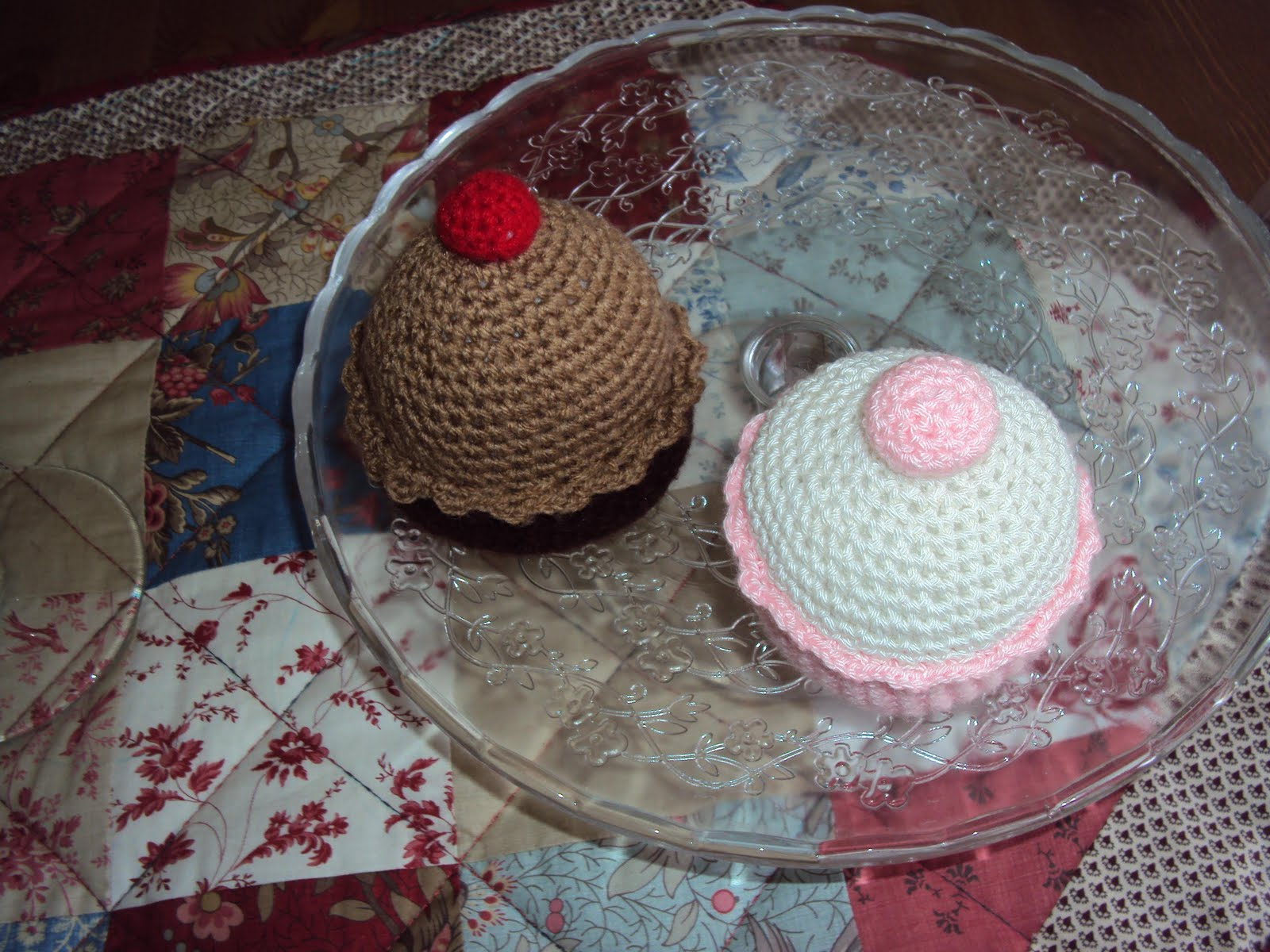 De Crochet  Chocolate Y Fresa Con Nata  Pueden Adornar Y Servir De