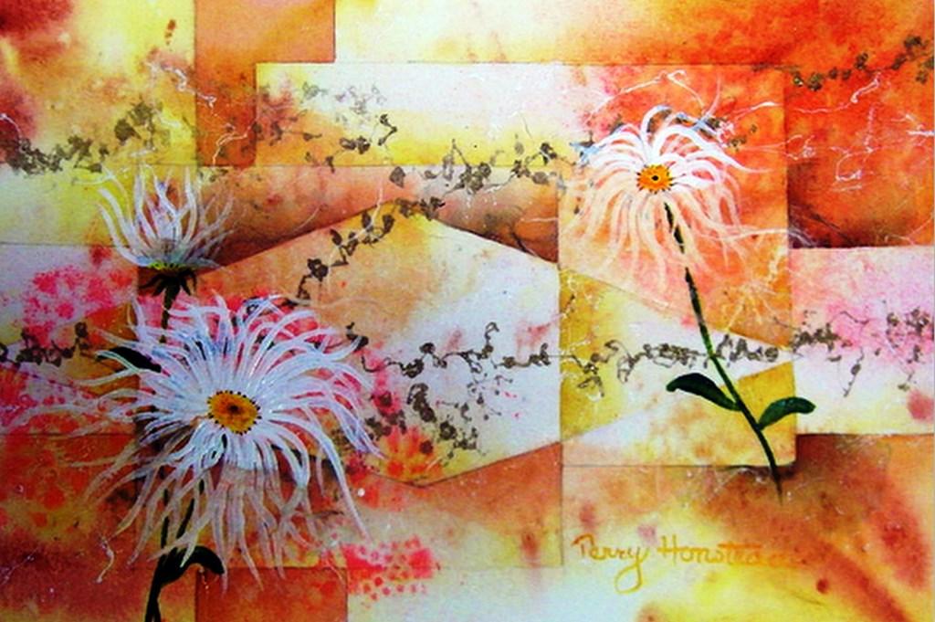 Im genes arte pinturas pinturas de flores abstractas - Cuadros florales modernos ...