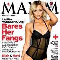 Laura Vandervoort, la Supergirl de Smallville, posa sexy para Maxim