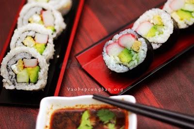 Cách làm sushi đơn giản tại nhà