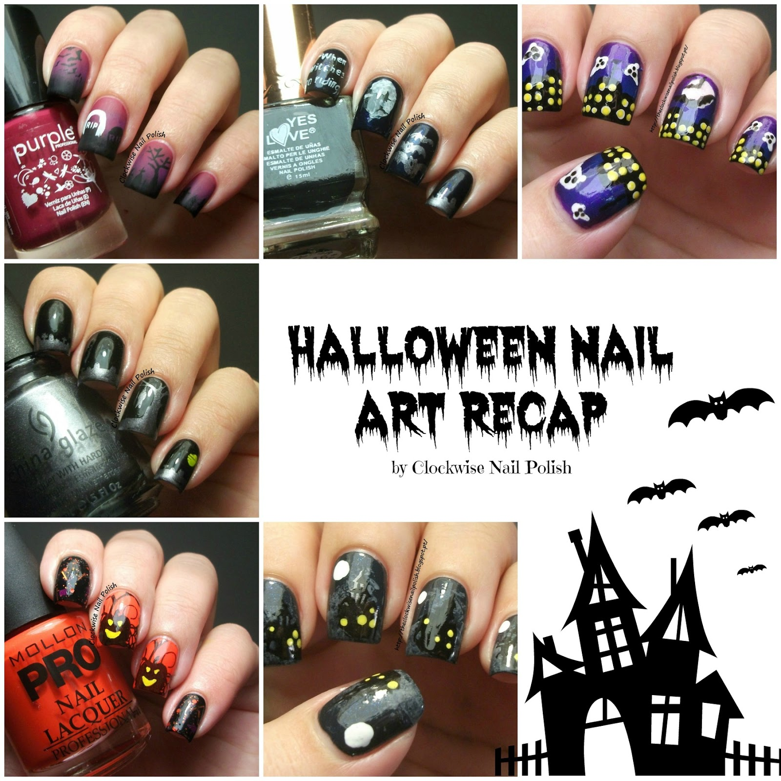 The clockwise nail polish halloween nail art 2012 2013 recap prinsesfo Choice Image