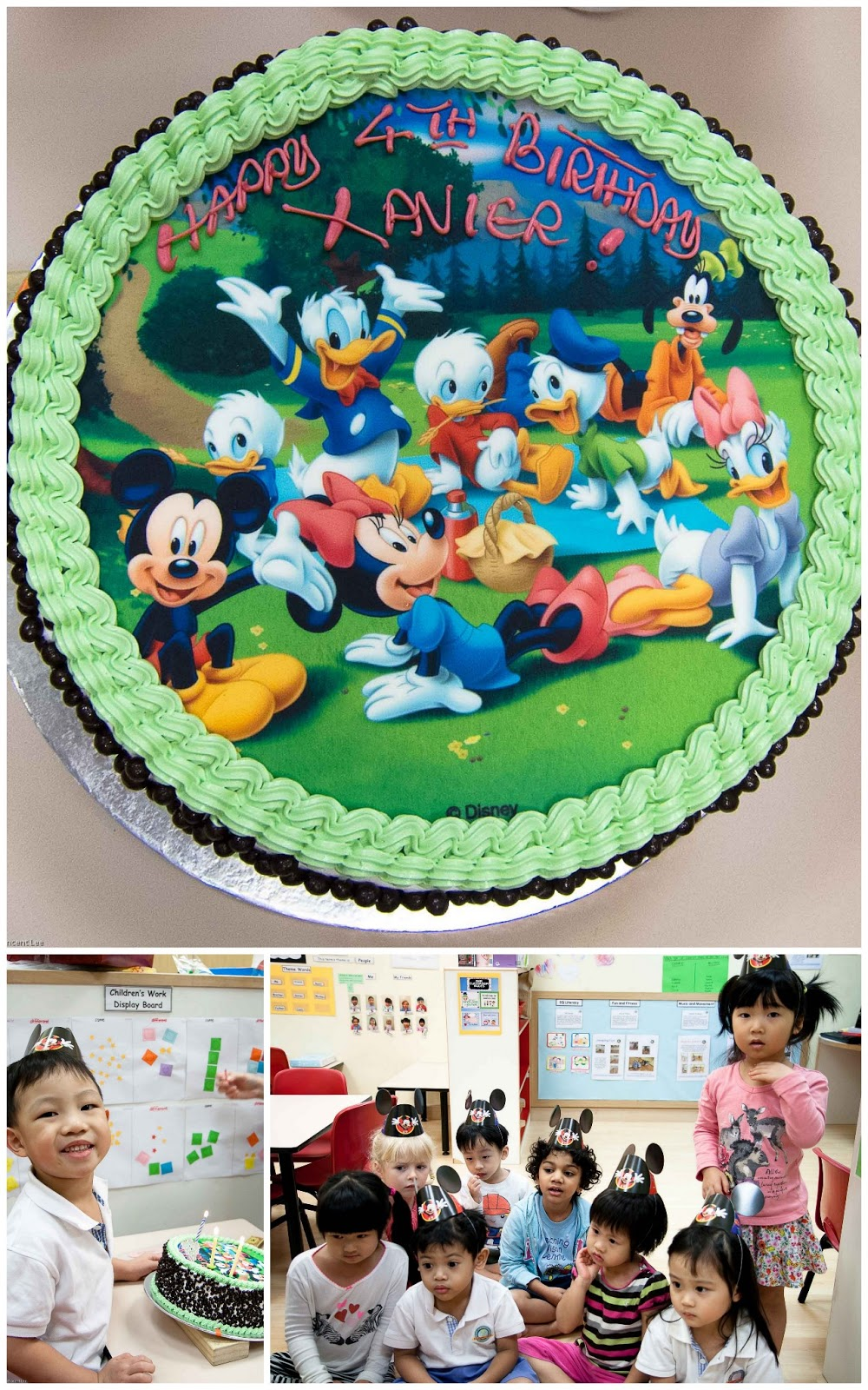 ... cake and that all have to sing birthday song to him later. Candles