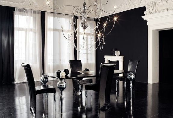 Black and White Dining Room 575 x 395
