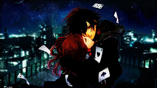 Sweet Couple Kissing Cards Anime HD Wallpaper Desktop PC Background 1707