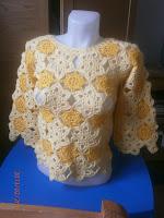 Mária csillaga, horgolt pulóver
