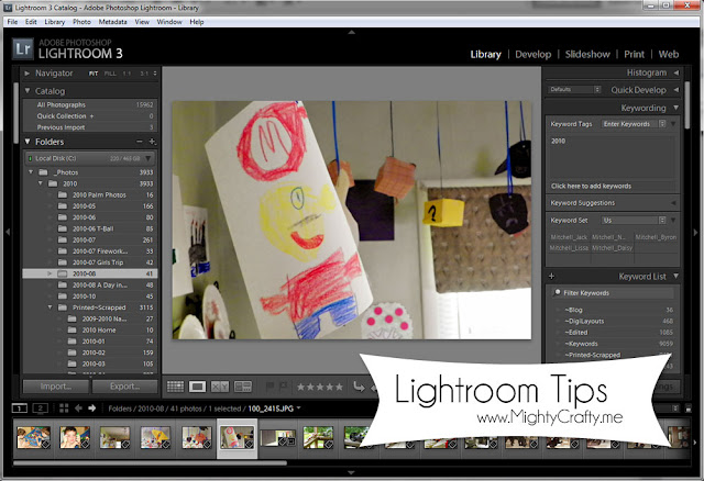 Lightroom Tips - www.MightyCrafty.me