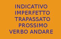 10 FRASI CON INDICATIVO IMPERFETTO E TRAPASSATO PROSSIMO DEL VERBO ANDARE