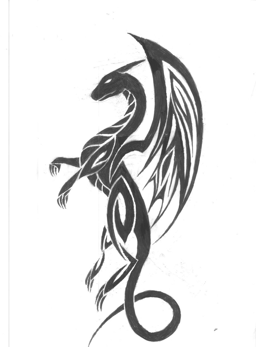 Dragon tattoo dragon tattoo design for Small dragon tattoos