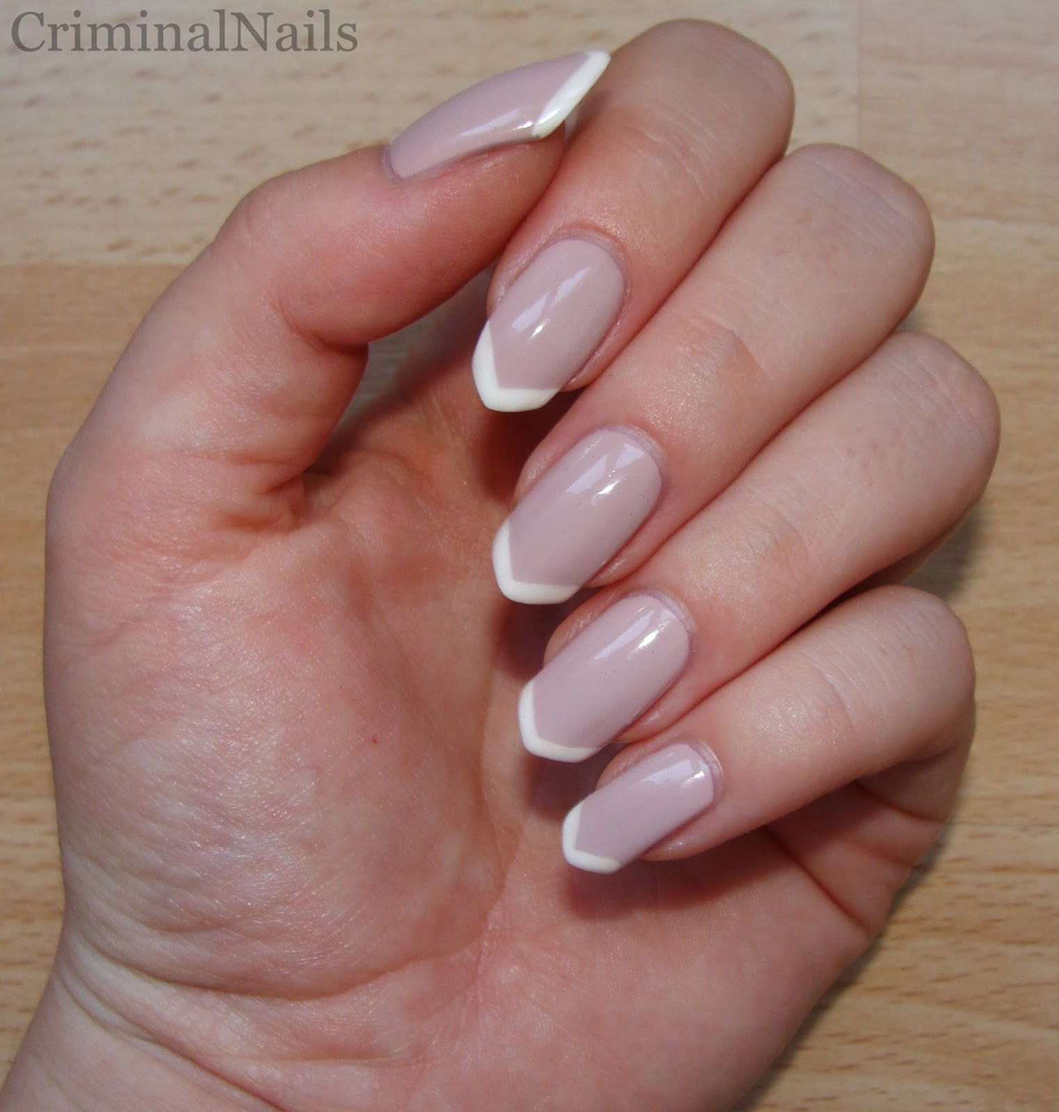 Criminal Nails: French manicure on pointy claws + snake update.