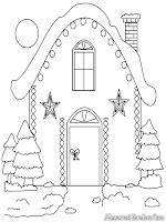 Gambar dekorasi rumah unik dan kreatif hari Natal untuk diwarnai