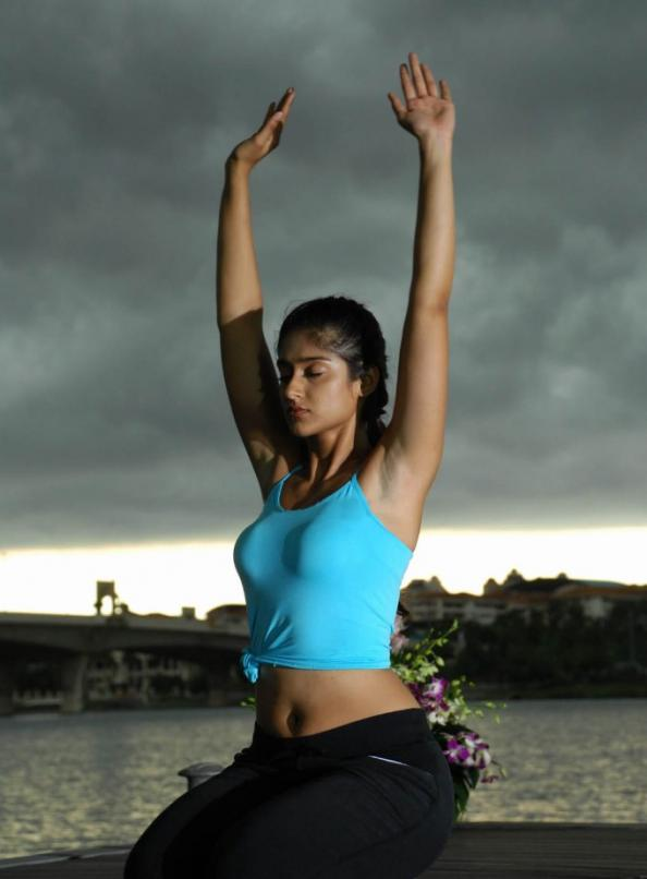 Ileana D'Cruz Hot Yoga Poses Stills