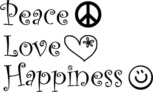 Peace Love And Happiness Quotes Glamorous Peace Love Happiness Quotes  Absn