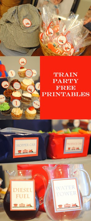 Train Birthday Party Printables