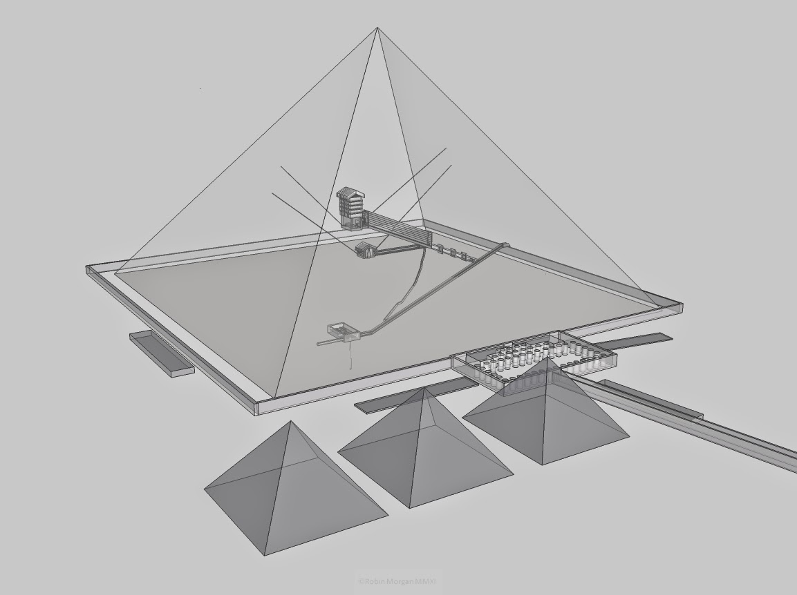 3d model of the pyramid of Khufu (Cheops)