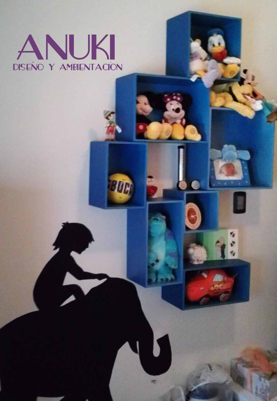 Anuki boutique dise o de habitaciones infantiles - Estantes para juguetes ...