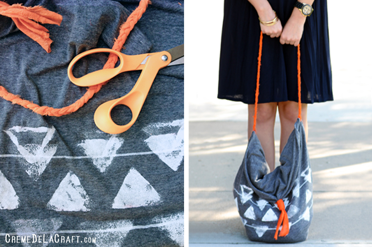 Diy Bag Out Of Pillowcase: DIY  No Sew Tote Bag From A Pillowcase,