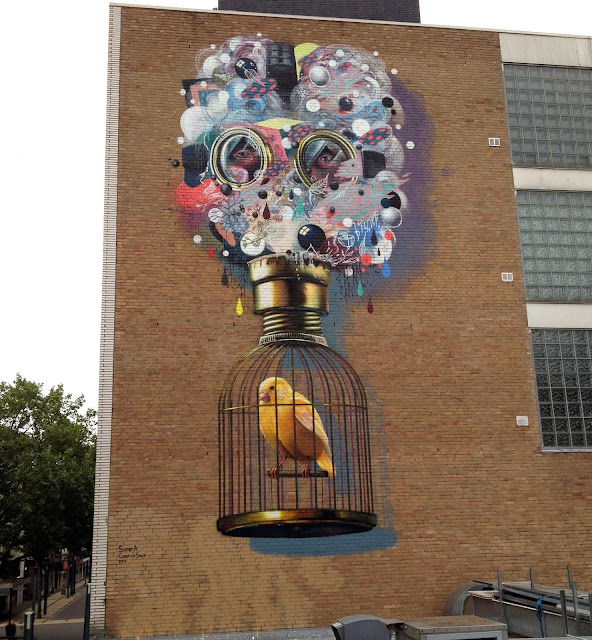 Street art by Colin Van Der Sluijs in Netherlands.