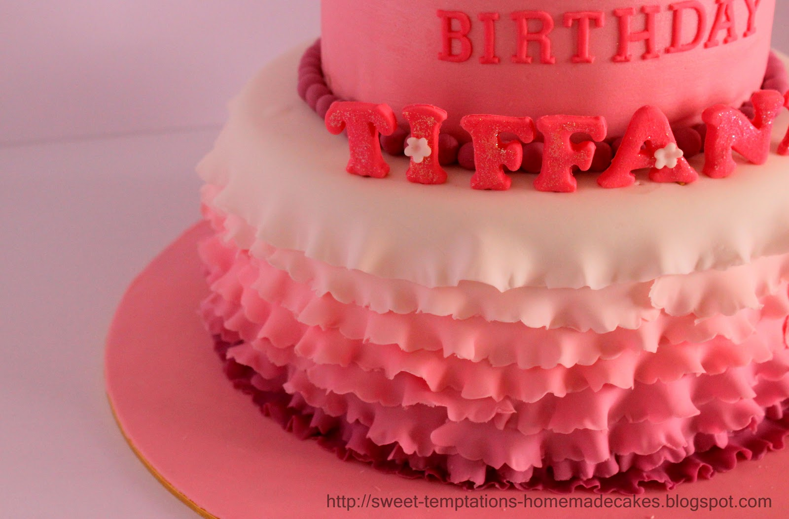 Sweet Temptations Homemade Cakes Pastry 1 Year Old Ruffle Cake