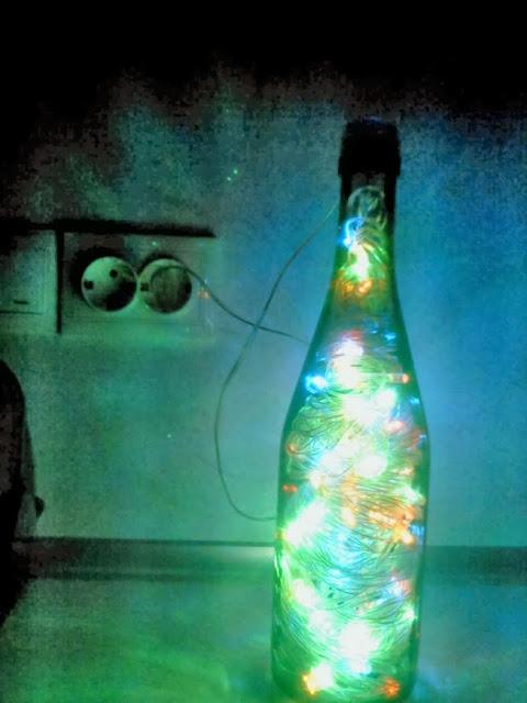 гирлянда в стеклянной бутылке своими руками