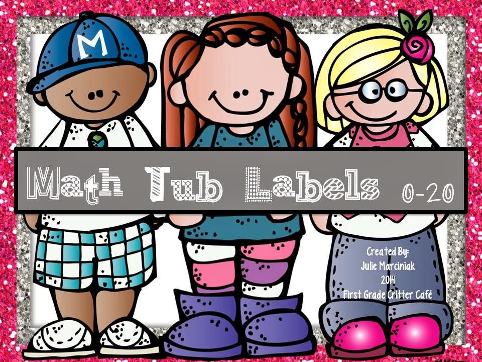 http://www.teacherspayteachers.com/Product/Math-Tub-Labels-0-20-Glitter-Edition-1086327
