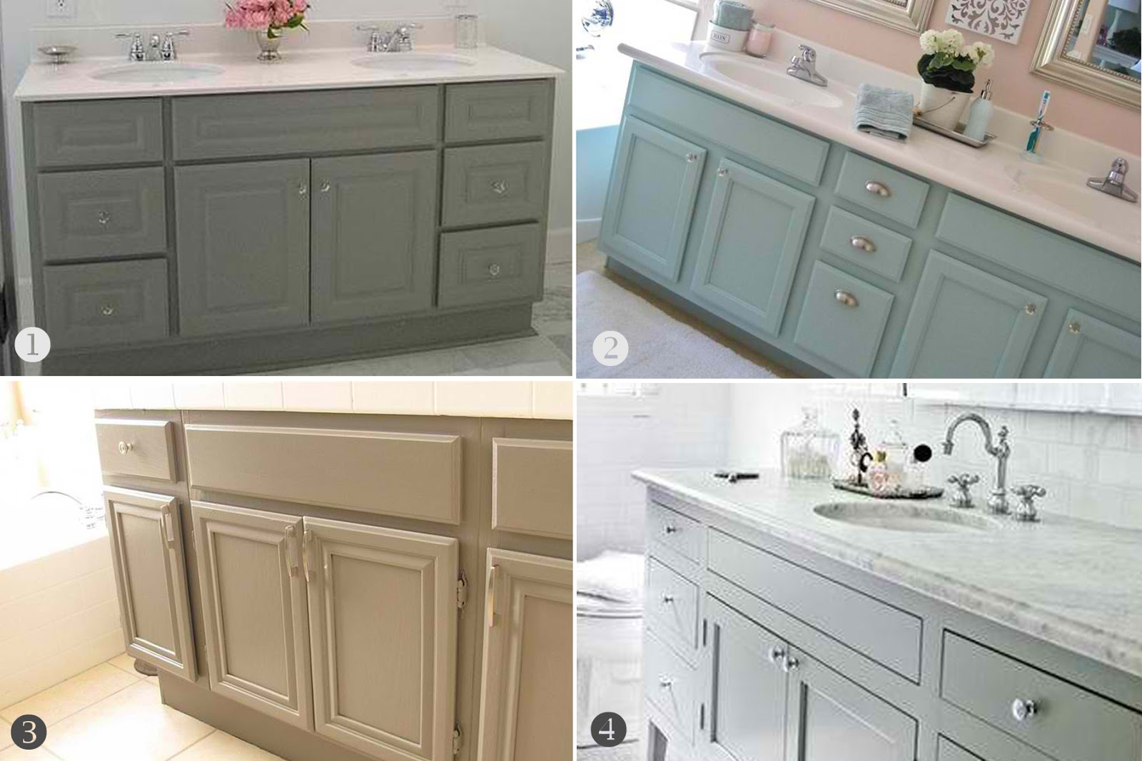 Inspired honey bee home bathroom cabinets upgrade for Bathroom cabinet color ideas
