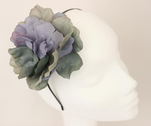 Colección Buceando - Diadema flor gris
