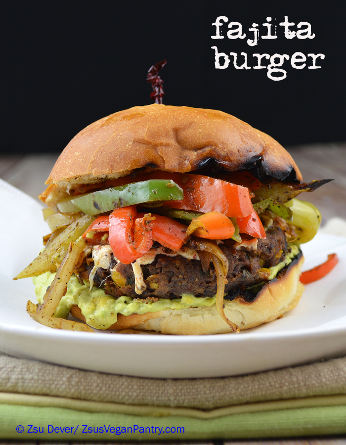 FAJITA BURGER PRINTER-FRIENDLY RECIPE