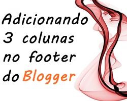 3 colunas no rodapé do blog