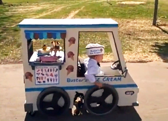 Ice Cream Truck Halloween Costume Art Car Wheel Chair