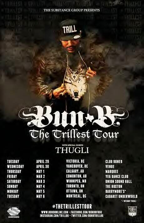 BUN B May 6th at UNDERWORLD