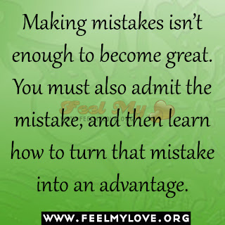 Making mistakes isn't enough to become great